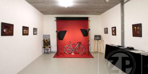 Fotostudio klaar voor expositie