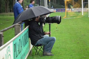 Patrick van Gemert in de regen.