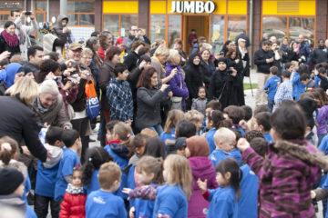 Flashmob door basisschool de Waaier.