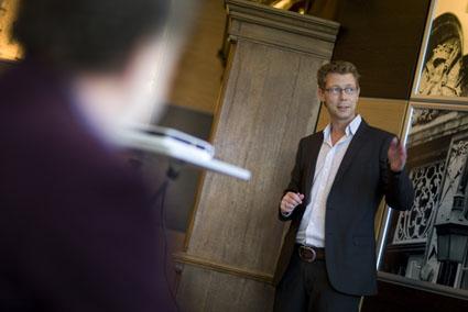 Ondernemers cafe bij fort Bronsbergen met als spreker Marco Strijks.