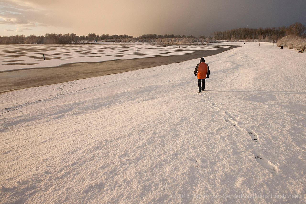 Maartse buien in Zutphen, Arctisch landschap rondom Bronsbergen.