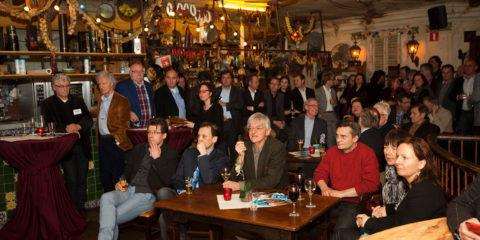 Ondernemerscafé bij Bronsbergen, gemeenteraadsverkiezingen.