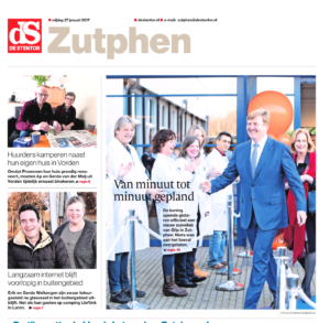 Stentor opent met foto Koning Willem-Alexander bij Qlip. Foto: Patrick van Gemert
