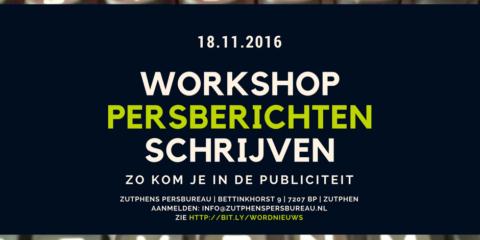 Workshop persberichten schrijven