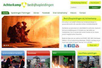 Website Achterkamp Bedrijfsopleidingen
