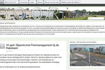 Website en blog BOOR 2013 homepage