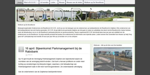 Website en blog BOOR 2013 homepage