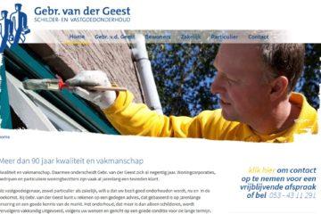 Gebr Van der Geest website 2012 homepage