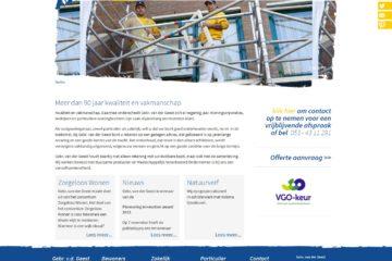 Gebr Van der Geest website 2012