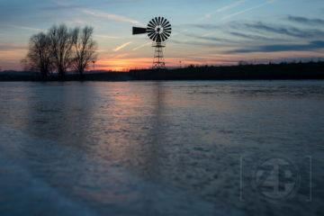 Fotogenieke zonsondergang bij Zutphen ©2016Patrick van Gemert