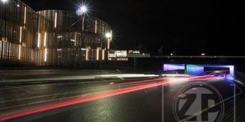 De nieuwe parkeergarage op Noorderhaven achter het station van Zutphen.