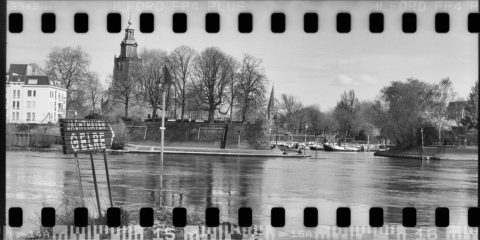 De IJssel bij Zutphen, in beeld gebracht met een Mamiya RB67