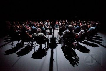 Voorstelling 'Dorst', regiedebuut van Jelle vd Meulen. Thema/rode draad: Anders Breivik. ©Patrick van Gemert