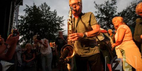 Hans Dulfer tijdens IJsseljazz 2016 in Gorssel ©Patrick van Gemert