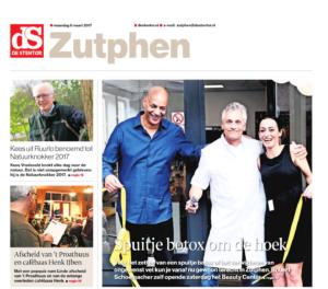 Opening Beauty Center Zutphen (bron: de Stentor)