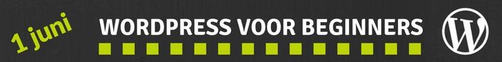 Workshop WordPress voor beginners op1 juni. Schrijf je nu in!