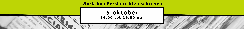 Je bedrijf in de media. Training voor free publicity op 5 oktober. Schrijf je nu in