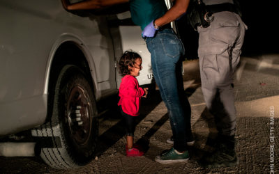 De winnende foto van John Moore, Getty Images. World Press Photo 2019.