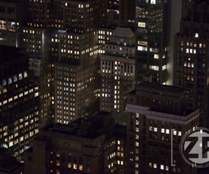 New York bij nacht.