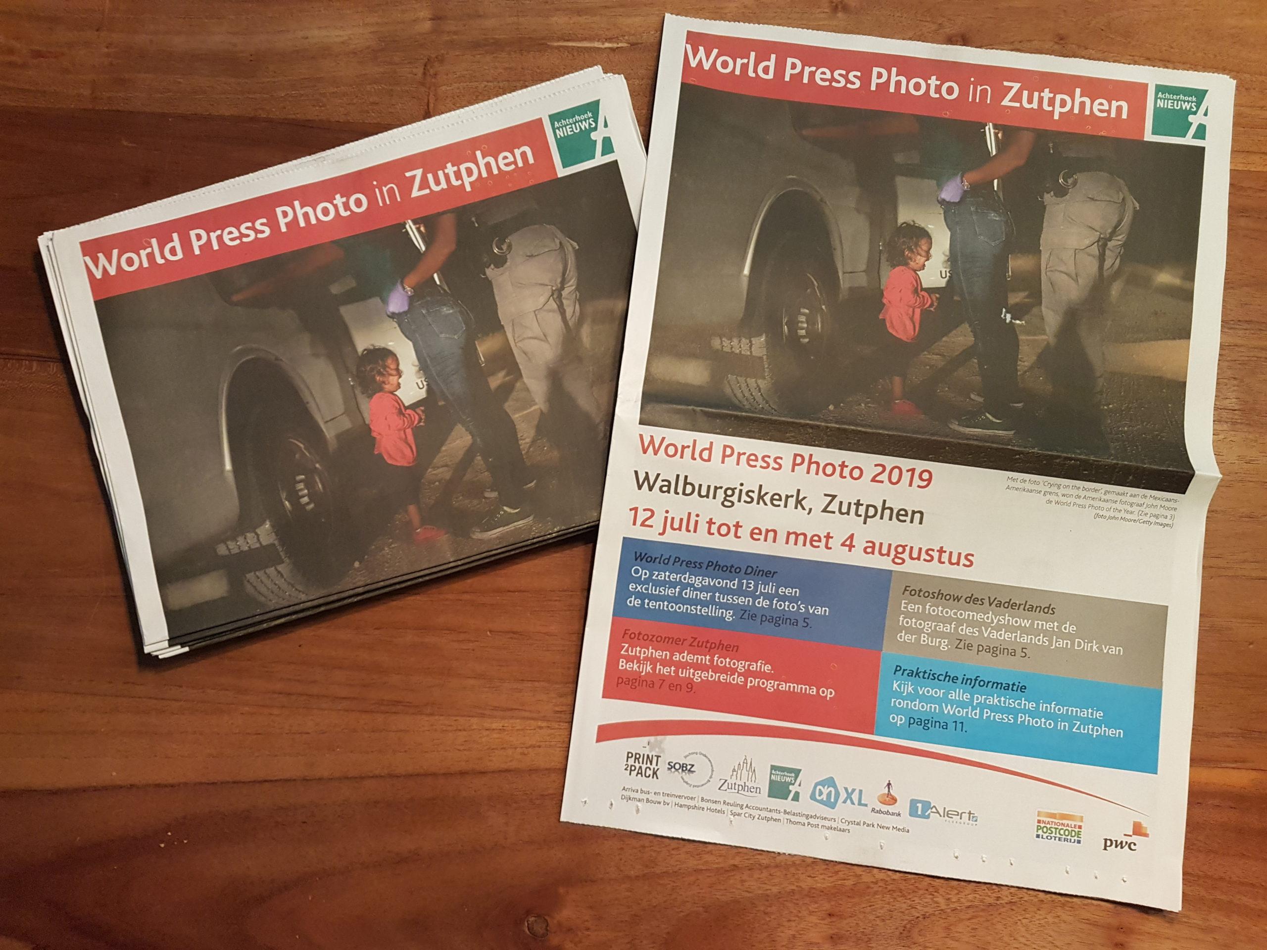 Speciale krant World Press Photo 2019 in Zutphen