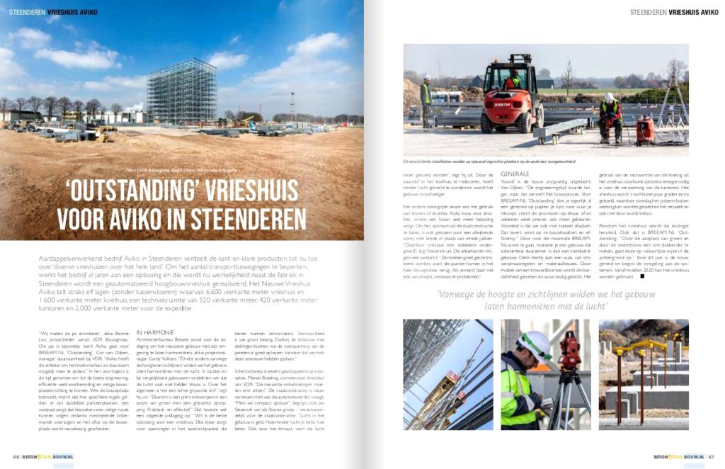 Vrieshuis Aviko in Beton- en Staalbouw 2 2019